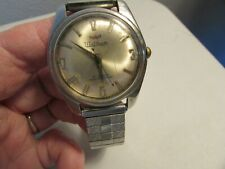 Vintage Working Mens Waltham 21 Jewel Watch Auto Self Wind Water Proof Shock Res
