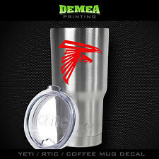 Atlanta Falcons -Yeti/Rtic/Yeti Rambler/Tumbler/Coffee Mug-Decal-Red