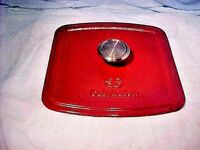 Calphalon Enamel Cast Iron PRESS RED ENAMEL INSIDE RIBBED - NICE  COOKING PRESS