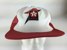 Vintage Texaco Gas Statuon Lubricants Oil Red Cap Mesh Snapback Hat USA RARE