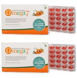 2x Pharma Nord Omega 7 Sea Buckthorn Oil 150 Capsules (Dry Eyes, Dry Mouth)