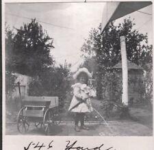 VINTAGE PHOTOGRAPH 1899 LITTLE GIRL TOY WAGON LANCASTER PENNSYLVANIA OLD PHOTO