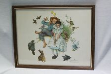 FRAMED NORMAN ROCKWELL THE FOUR AGES OF LOVE B&B U.S.A. STANDARD PACKAGING CORP