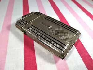 Vintage Evans Cigarette Lighter And Case Combination Chrome Hollywood Regency