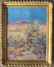 c.1920 Southwestern Oil-Cacti in Bloom-Heavy Impasto-NR