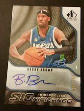 Bobby Brown Timberwolves Cal State Fullerton 2009 Upper Deck Auto Certified JG4