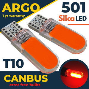 Fits Seat Ateca Led Red Interior Footwell Light Bulbs 2016-On Lamps Bulb 12v