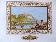 Heidelberg Neckar Rhein Schloß Farblitho Album um 1850