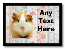 Guinea Pig Floral Personalised Computer Mouse Mat