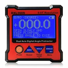 Floureon Axis Level Box Inclinometer Dual Axis Digital Angle Protractor