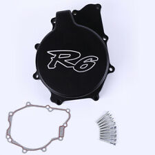 Left Engine Stator Crankcase Cover Gasket For Yamaha YZF R6 1999-2002 01 BLACK