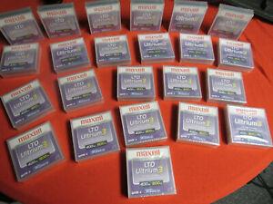 LOT OF 23 MAXELL LTO ULTRIUM 3 TAPE CARTRIDGE 400GB/800GB (183900) FACTORY NEW