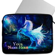 Personalised Laptop Cover FANTASY UNICORN Neoprene Sleeve Case Universal ST709