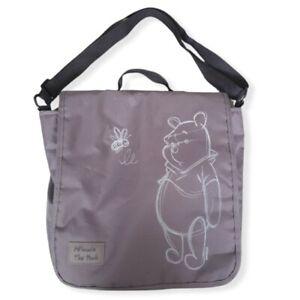 Disney Winnie The Pooh Womens Diaper Baby Bag Nylon Grey Used
