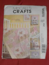 McCall's Pattern M5870 To Make:Baby Quilt Blanket Pillow Toy Bib w/LAMB Theme