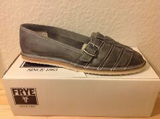 FRYE Milly Fisherman Leather Charcoal Women's Slip-on Shoes NIB New US 9.5