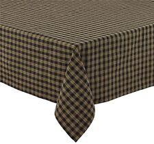 Primitive Country Black Sturbridge Tablecloth 54x54 Plaid Cotton Farmhouse Table