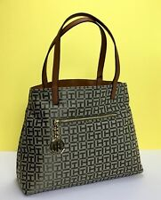 Tommy Hilfiger Purse Womens Shopper Tote Handbag Jacquard Th Pattern New NWT