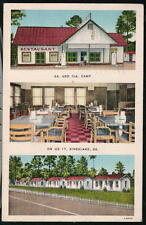KINGSLAND GA Georgia & Florida FL Camp Cottage Motel Restaurant Vtg Postcard Old