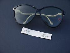 original DDR Sonnenbrille Retro Kult Gestell schwarz, Bügel weiß OVP