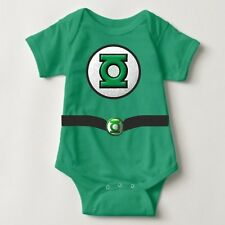 Green Lantern Costume Personalized Baby One Piece with Back Name Print