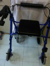DISABLED FOUR WHEEL WALKER, IN BUILT SEAT