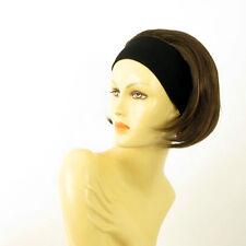 Stirnband Perücke kurze frau Schokolade Kupfer Docht  AMANDA 6h30
