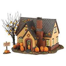 Dept 56 Halloween Snow Village The Pumpkin House Set of 2 4030757 Lighted NEW