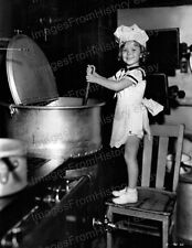 8x10 Print Shirley Temple Cute Little Chef in Kitchen 1934 #ST22