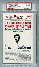 1960 Nu-Card #43 Ty Cobb Named Best All Time  PSA MINT 9  Wow Beautiful card