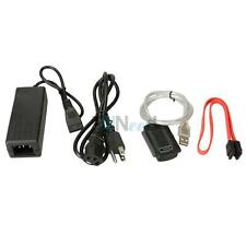 "USB 2.0 to IDE SATA 2.5/3.5"" Hard Drive Converter Adapter Cable + AC Adapter"