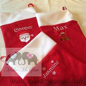 Stocking Personalised Children's & Adult LARGE christmas XMAS stocking WITH NAME