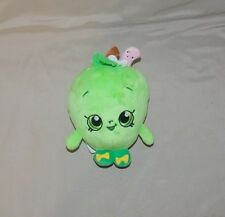 """Shopkins Green Apple Blossom Stuffed Plush 6"""" pink worm by Just Play"""