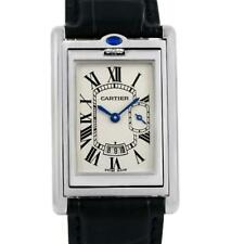 Cartier Tank Basculante Steel Silver Dial Mens Watch 2522