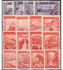 Österreich Nr. 838-853 postfrisch ** / gestempelt Landschaften 1947