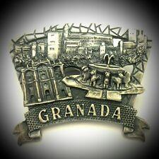 Fridge Magnet Metal Granada Spain Tourist Souvenir For Collection & Gift M937