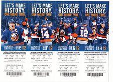 2015 NEW YORK ISLANDERS PLAYOFF TICKET SHEET NASSAU LAST NHL GAME MINT PHANTOM