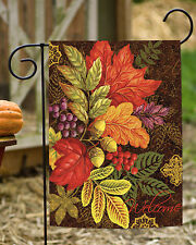 Toland Changing Colors 12.5 x 18 Colorful Welcome Fall Autumn Leaves Garden Flag