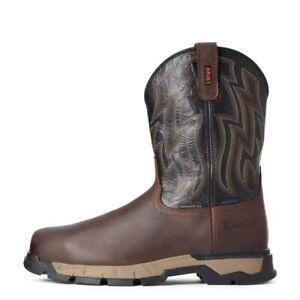 Men's Ariat Rebar Flex Western H20 Comp Toe  Square Toe Size 12 10034157