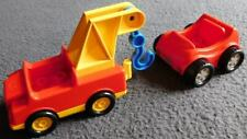 Lego Duplo Tow Truck Sports Car Lot of 2 Yellow Red Blue Hook City Town Race