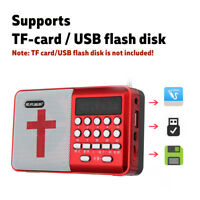 Rechargeable Portable Bible Player Audio Speaker Talking FM Radio TF USB  !