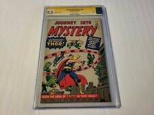 JOURNEY INTO MYSTERY #83 GOLDEN RECORD REPRINT 1966 SIGNED STAN LEE CGC 8.5