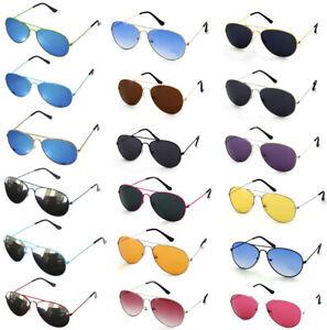 Mens Womens Ladies Unisex Fashion Retro Sunglasses Blue Mirror Mirrored New