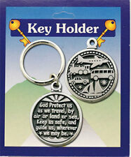 GOD PROTECT US AS WE TRAVEL BY LAND OR SEA KEYRING GUARDIAN ANGEL OTHERS LISTED