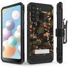 Galaxy A21 Case, Evocel Glass Screen Protector with Clip Holster & Kickstand