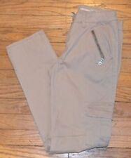 Pantaloni da donna cargo grigi in misto cotone