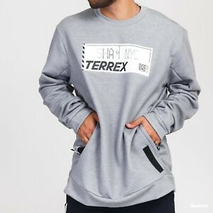 ADIDAS TERREX Performance FLEECE SWEATSHIRT With Zipped Kangaroo Pockets XL BNWT