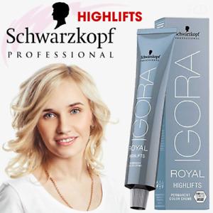 Schwarzkopf Professional IGORA Royal HIGH LIFTS Permanent Color Dye Creme 60ml