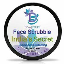 Diva Stuff India's Secret Blackhead Dissolving Face Scrubbies w/Tumeric 12 pack