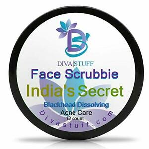 Diva Stuff India's Secret Blackhead Dissolving Face Scrubbies w/Tumeric 12 pack